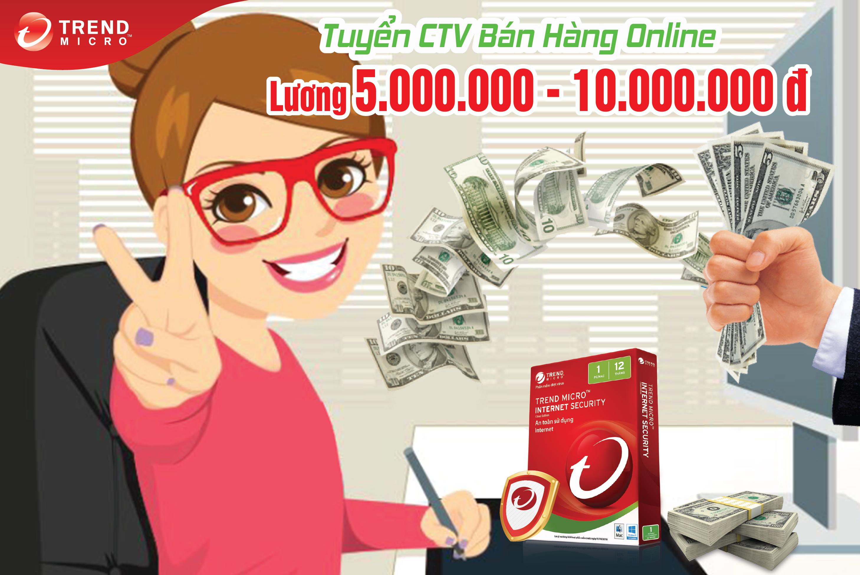 Tuyển Công tác viên bán hàng Online, lương 5.000.000 -10.000.000Đ / Tháng