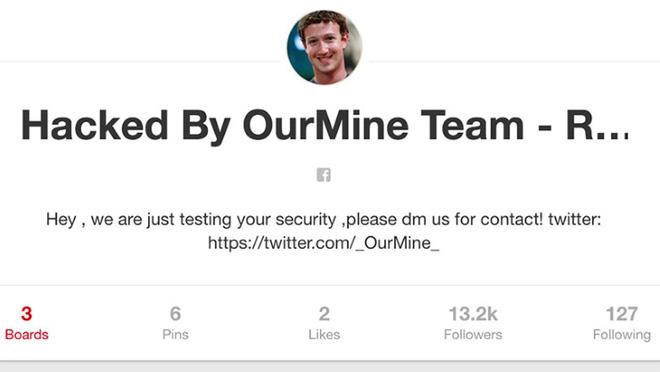Mark Zuckerberg, Là một trong những người vĩ đại trong làng công nghệ vẫn bị hack tài khoản