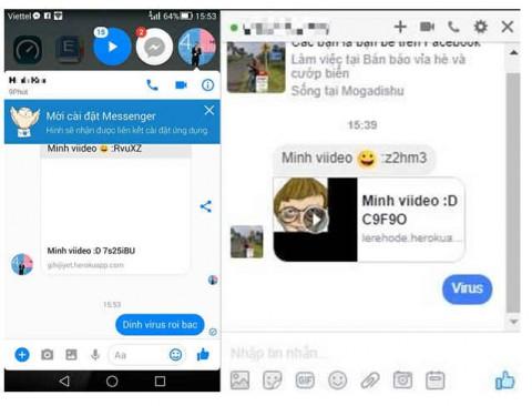 Phần mềm diệt virus Trend Micro: Mã độc núp bóng video đang phát tán trên tin nhắn Facebook?