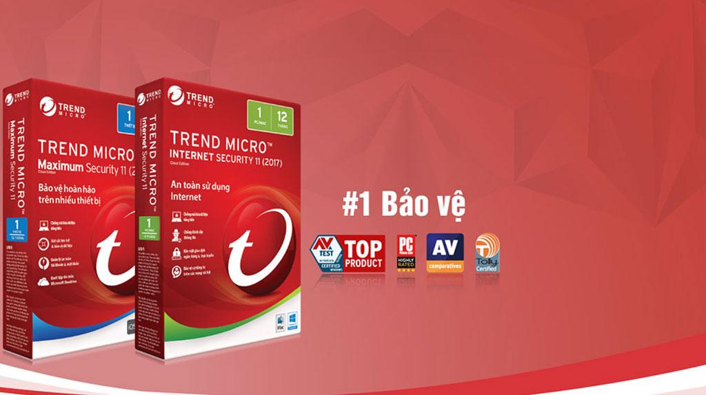 Phần mềm diệt virus tốt nhất 2017 - Trend Micro Maximum Security