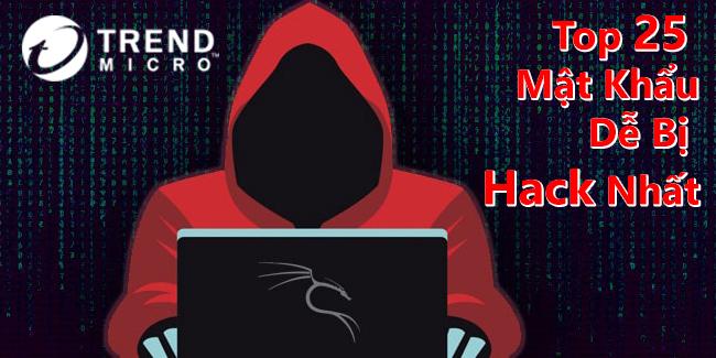 Top 25 mật khẩu dễ bị hack nhất!