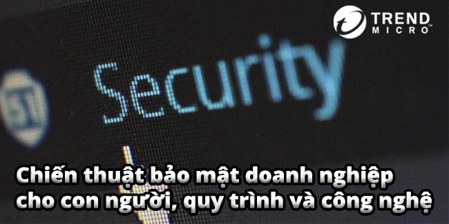 Chiến thuật bảo mật doanh nghiệp cho con người, quy trình và công nghệ